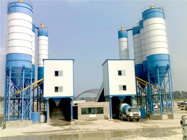 AJ-180 concrete mixer plant