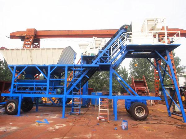 AJY-25 mobile concrete mix plant