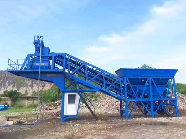 AJY-35 mobile concrete mixing plant