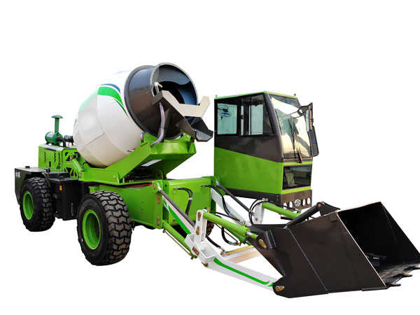 1.8 cub self loading concrete mixer truck