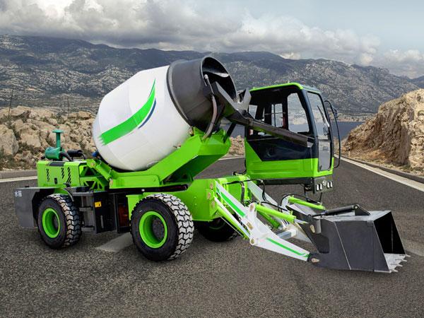 3.2 cub self loading mobile concrete mixer