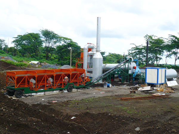 DHB60 mobile drum mix plant