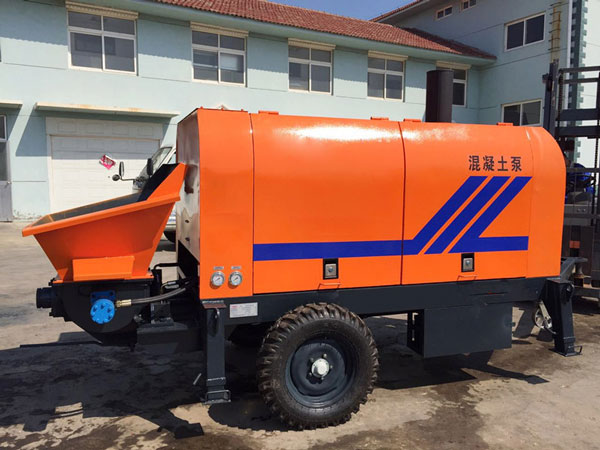 HBTS50 concrete trailer pump diesel