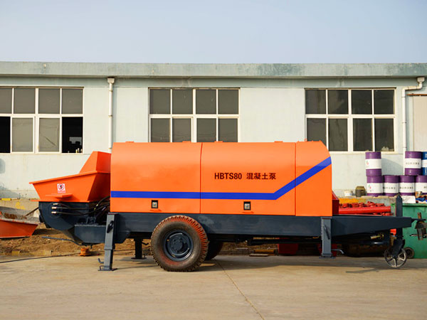 HBTS80 electric concrete pump trailer