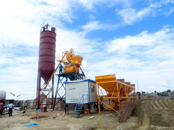 AJ-25 concrete mixing plant for sale