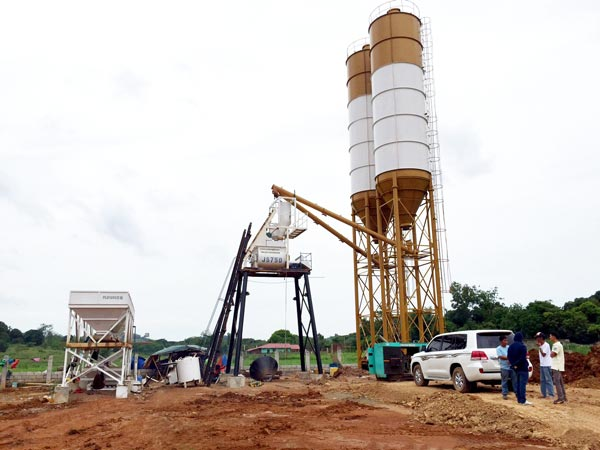 HZS25 mini batching plant