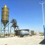 HZS35 Stationary Concrete Batching Plant Uzbekistan Installation Finished