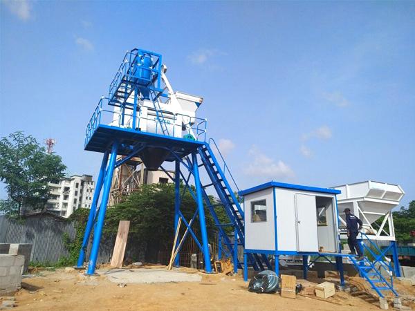 HZS50 precast concrete plant