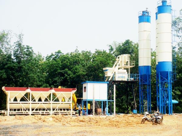 HZS75 precast concrete plant