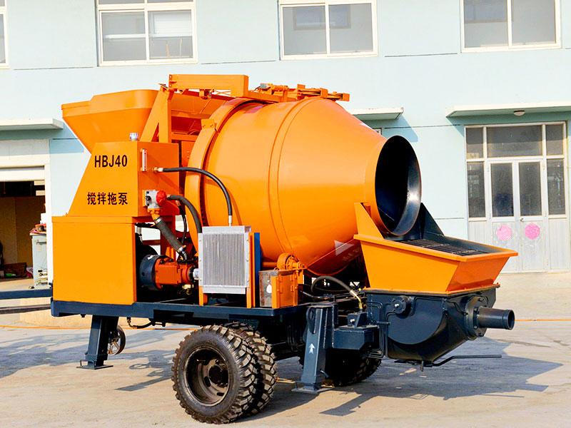 JB40R-JZC350 diesel concrete mixer pump