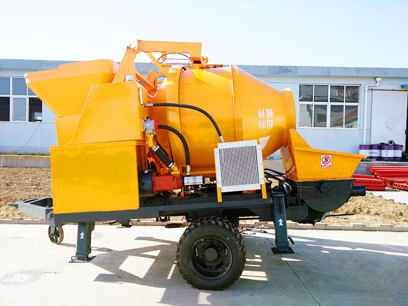 JBS30-JZC350 diesel concrete mixer with pump