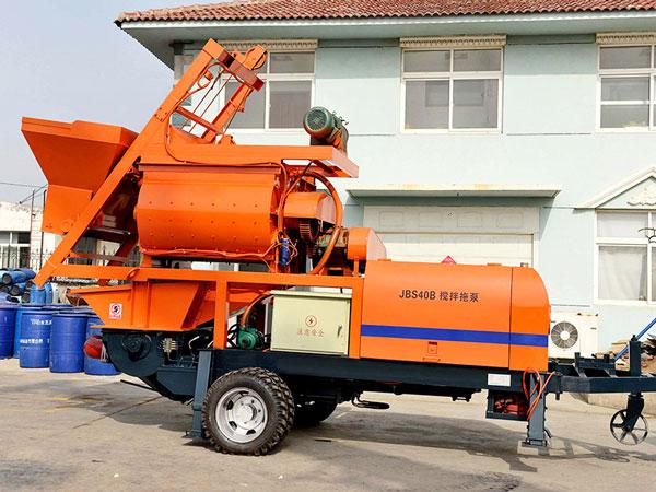 JBS40-JS750 compulsory concrete mixer with pump