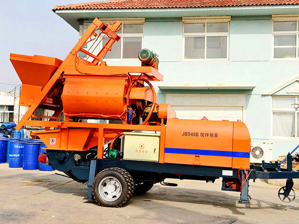 JBS40-JS750 compulsory concrete mixer and pump