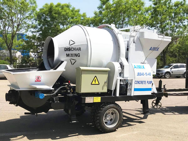 JBS40-JZC350 electric concrete mixer pump