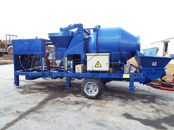 JBS40 drum concrete mixer pump