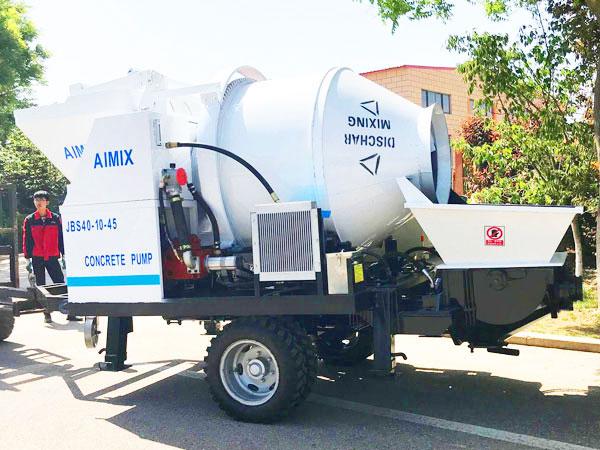 JBS40 portable electric concrete mixer pump