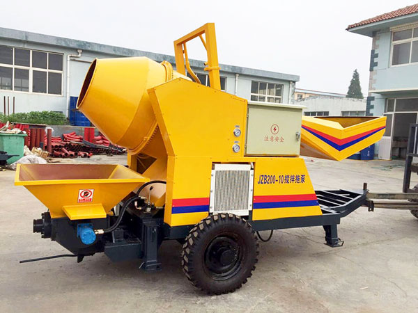 JZB200-10 concrete mixer with pump