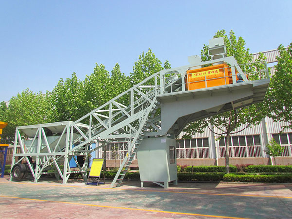 YHZS75 Mobile Ready Mixed Concrete Plant For Sale