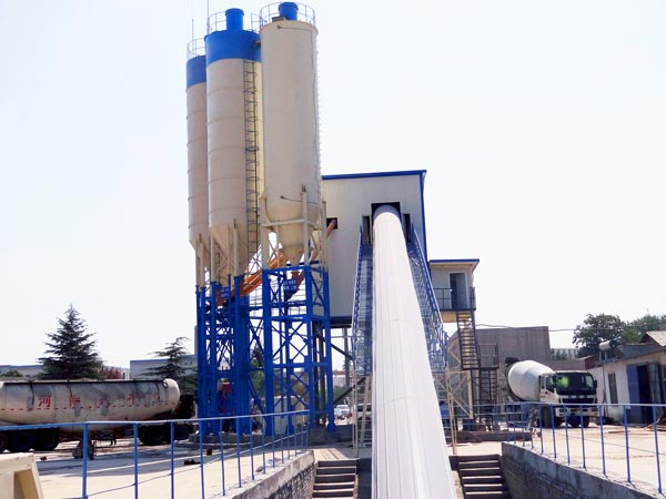 hzs120 automatic concrete batch plant