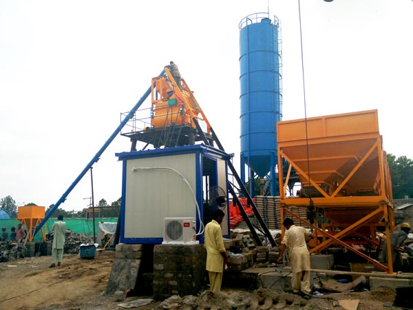 hzs35 fully automatic concrete plant