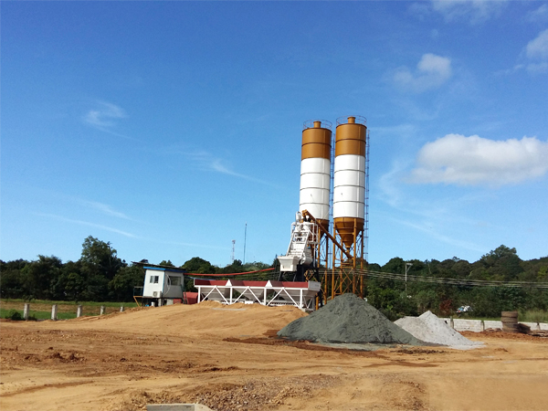 hzs35 mini concrete batching plant