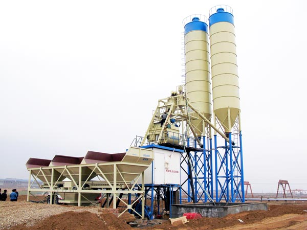 hzs75 fully automatic batching plant