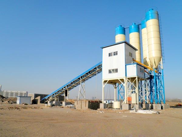 hzs90 automatic concrete plant