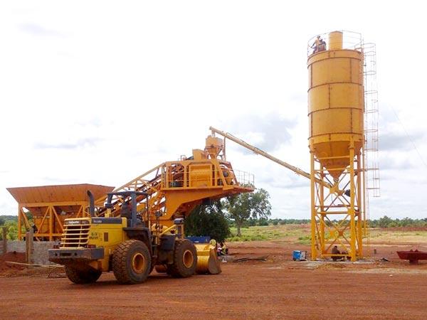 yhzs25 portable concrete plant
