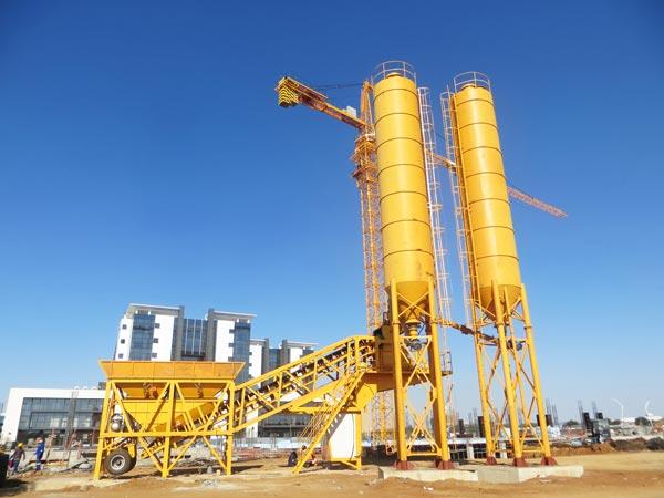 YHZS35 mobile wet batch concrete plant