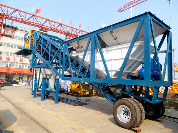 yhzs50 portable concrete batch plant