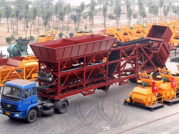 yhzs90 portable concrete plant
