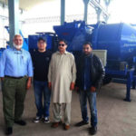 Pakistan Customers Visit Our Diesel Concrete Pump With Mixer