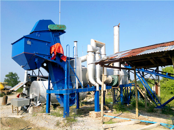DHB40 mobile drum mix plant
