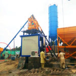 Congratulations Successful Installation HZS35 Stationary Concrete Batching Plant Pakistan