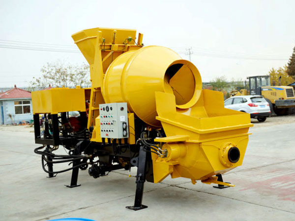 JBS30-JZC350 diesel concrete pump with mixer