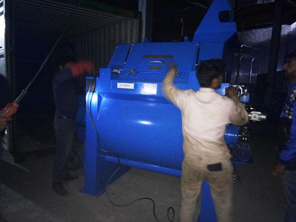 twin shaft concrete mixer of concrete plant