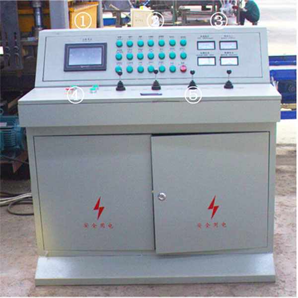 control system of interlocking-brick-machine