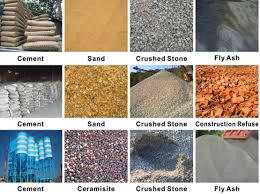 raw materials for hollow bricks