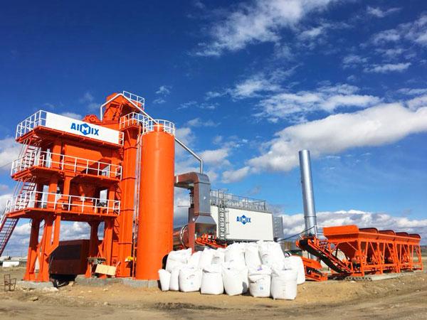 LB1000 asphalt batch mix plant in Russia