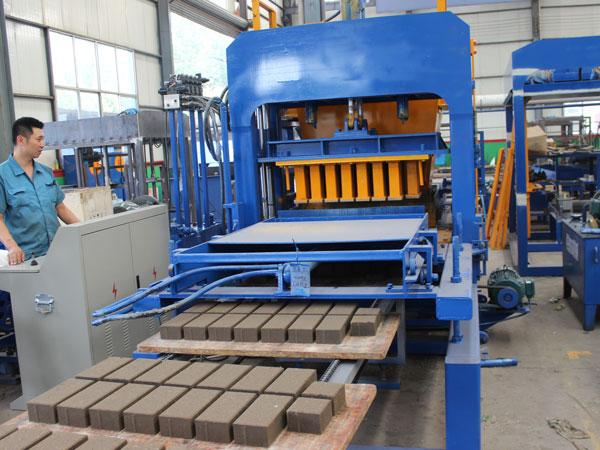 concrete brick production