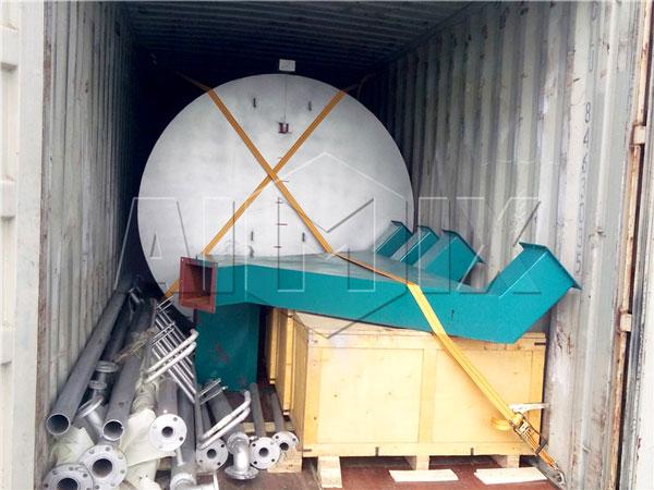 shipment for 120t asphalt plant