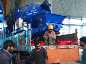 shipment of diesel concrete mixer pump Pakistan