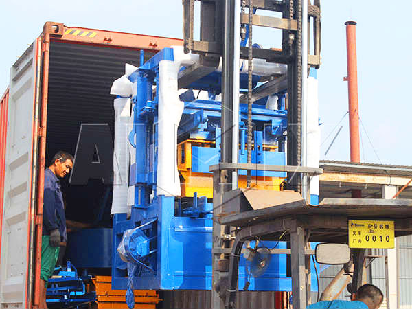 block moulding machine shipped to the philippines