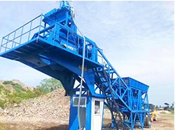 Complete Installation Of AJY-35 Mobile Batching Plant