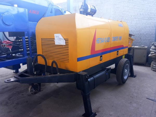 HBTS40R diesel engine concrete pump