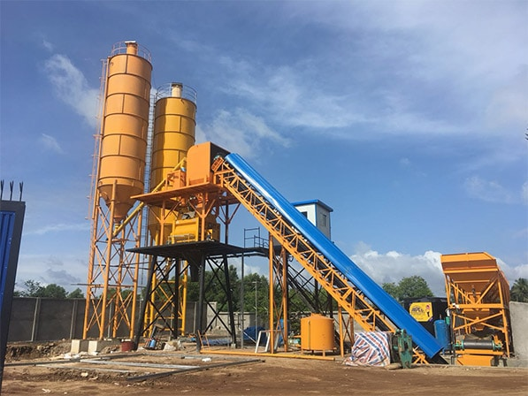 AJ-60 Belt Conveyor Type Concrete Batching Plant