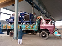 Delivery of ABJZ40C diesel concrete mixer pump Gilgit