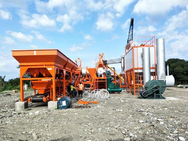 ALYQ60 mobile asphalt mixer plant