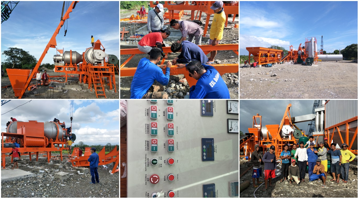 QLBY60 mobile apshlat plant installation