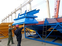 Safe container shipment for AJ-50 concrete plant